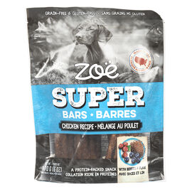 Zoe Super Bars Dog Treats - Chicken - 170g