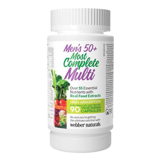 Webber Naturals Men's 50+ Most Complete Multi - 90's