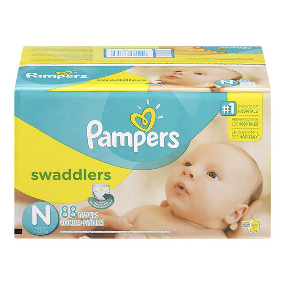 Pampers Swaddlers Diapers Super Pack - Newborn - 88's