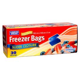London Drugs Slide Freezer Bags - Medium - 30's