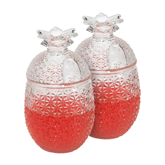 London Drugs Pineapple Glass Mug - Set of 2