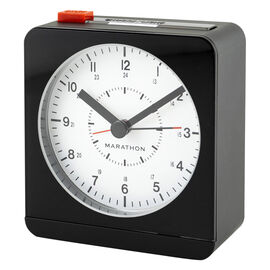 Marathon Desk Alarm Clock - Black/White - CL030053BK-WH