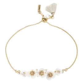 Lonna & Lilly Flower Slider Bracelet - Gold Tone