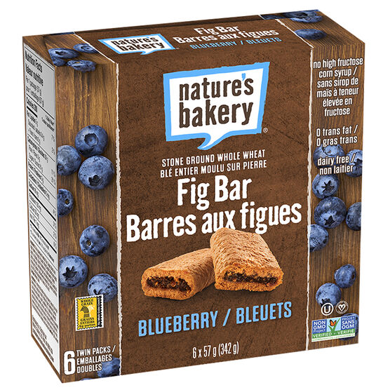 Natures Bakery Fig Bars - Blueberry - 6 pack