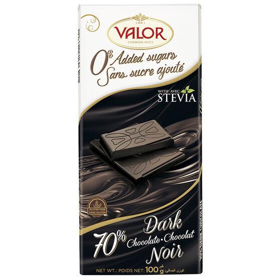 Valor 70% Dark Chocolate - No Sugar - 100g