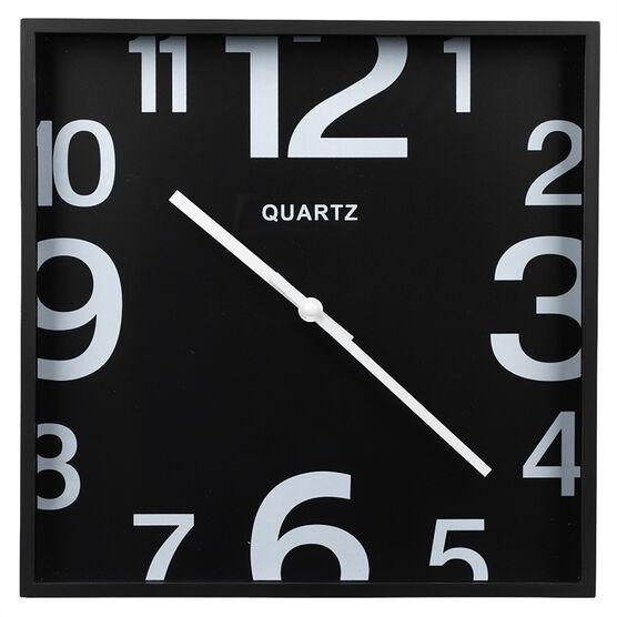 London Drugs Wall Clock - Black - Square