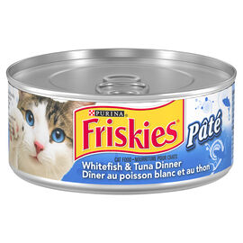 Friskies Wet Cat Food - Pate Whitefish & Tuna Dinner - 156g