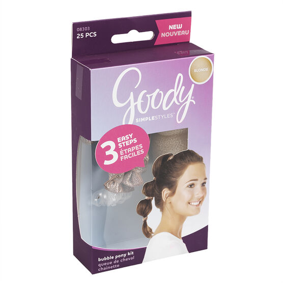 Goody SimpleStyles Bubble Pony Kit Assorted - 25's