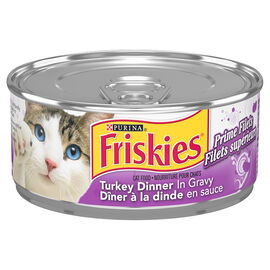 Friskies Wet Cat Food - Prime Filets Turkey Dinner - 156g