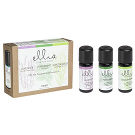 Ellia 100% Pure Essential Oils - Lavender / Peppermint / Lemongrass - 3 x 10ml