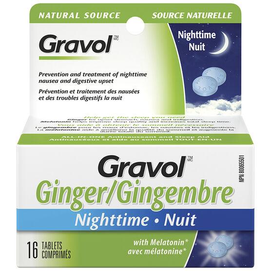 Gravol Ginger Nighttime - 16's