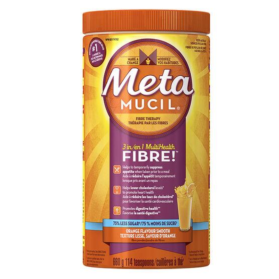 Metamucil 3in1 MultiHealth Fibre Smooth - Orange - 660g