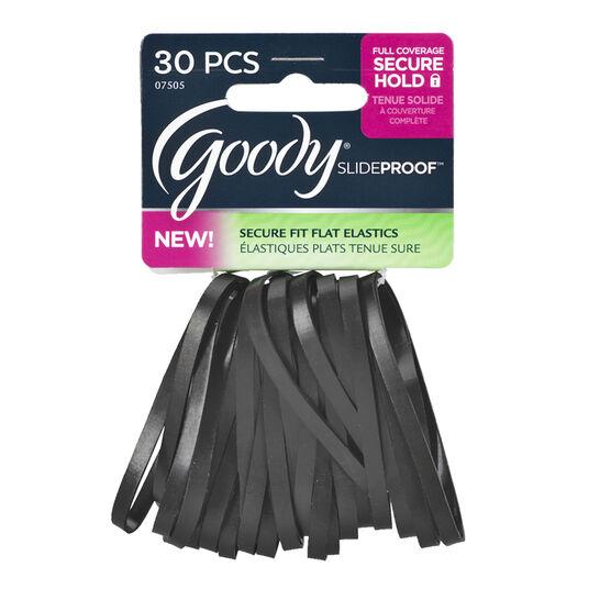 Goody SlideProof Flat Elastics - Black - 30's