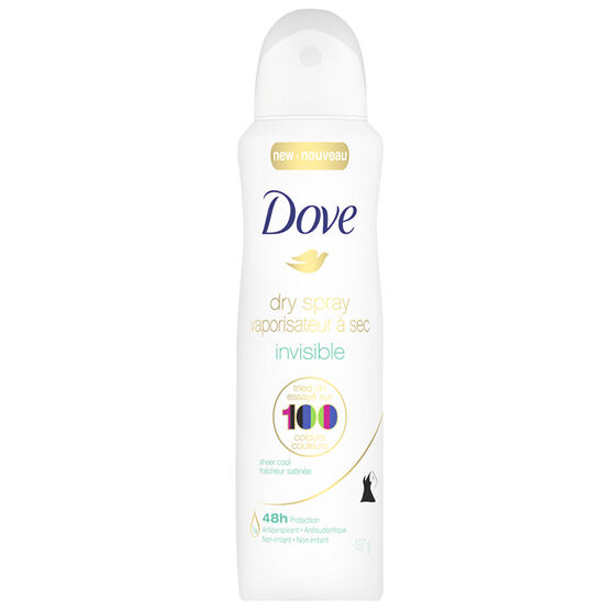 Dove Dry Spray Invisible Antiperspirant - Sheer Cool - 107g