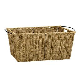 London Drugs Seagrass & Metal Basket - Medium