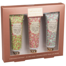 Wild Rose & Musk Hand Cream - 3 x 30ml
