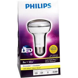 Philips R20 LED Dimmable Light Bulb - Soft White - 8 watts