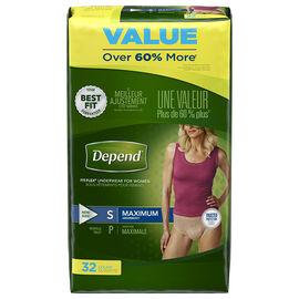 Depend Fit-Flex Underwear for Women Maximum Absorbency - Small - 32's