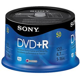 Sony DVD+R Recordable Storage - 50 pack