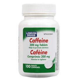 London Drugs Caffeine Tablets - 200mg - 100's