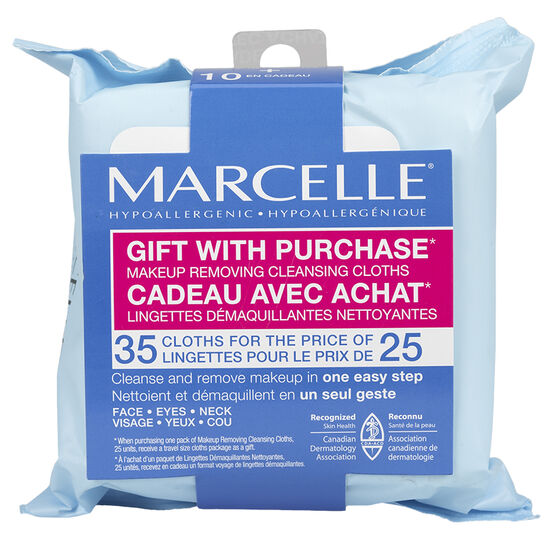 Marcelle Makeup Removing Cleansing Cloths - 25s