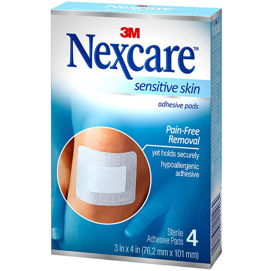 3M Nexcare Sensitive Skin Adhesive Pads - 4's