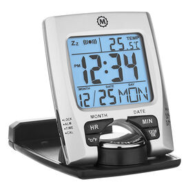 Marathon Travel Alarm Clock - Silver - CL030023