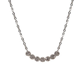 Charisma Stainless Steel Cubic Zirconia 7-Stud Necklace