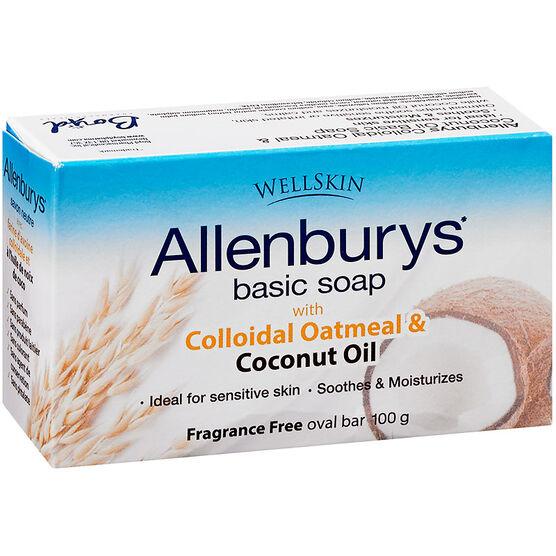 Allenburys Basic Soap - Colloidal Oatmeal & Coconut Oil - 100g