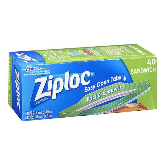 Ziploc Easy Open Sandwich Bags - 40's