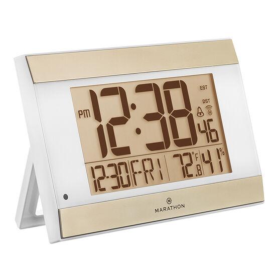 Marathon Atomic Digital Clock - White - CL030052WH