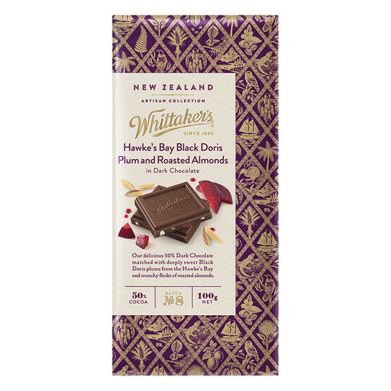 Whittaker's Dark Chocolate - Plum and Roasted Almonds - 100g