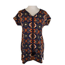 Lava Short Sleeve Printed Tunic Top