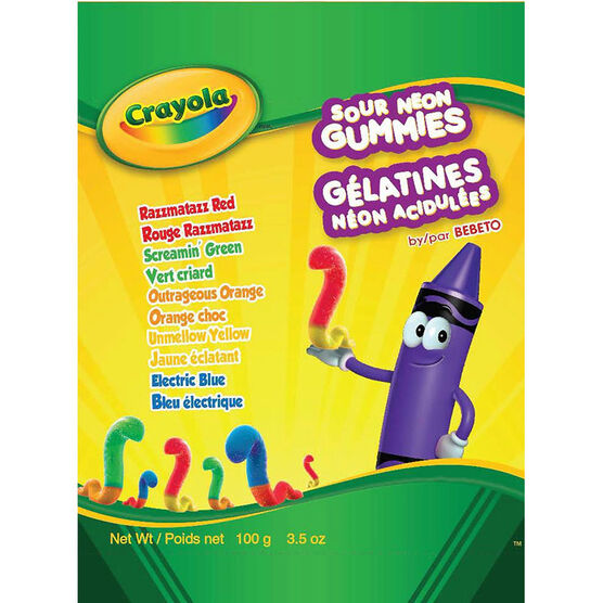 Crayola Sour Neon Gummies - 100g