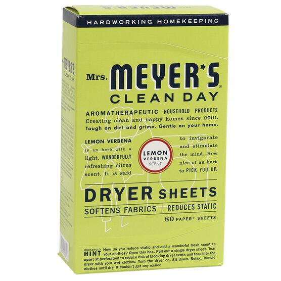Mrs. Meyer's Dryer Sheets - Lemon Verbena - 80's