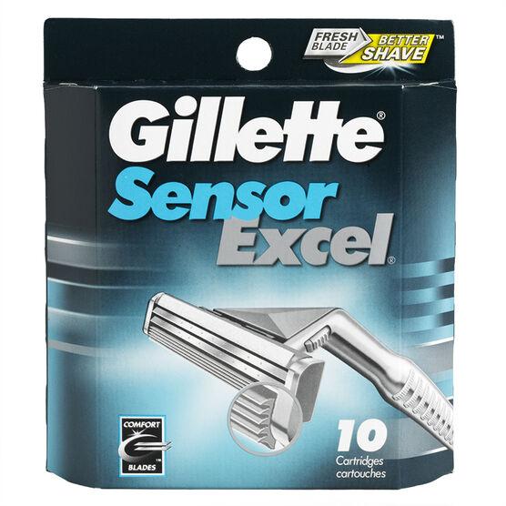 Gillette SensorExcel Cartridges - 10's