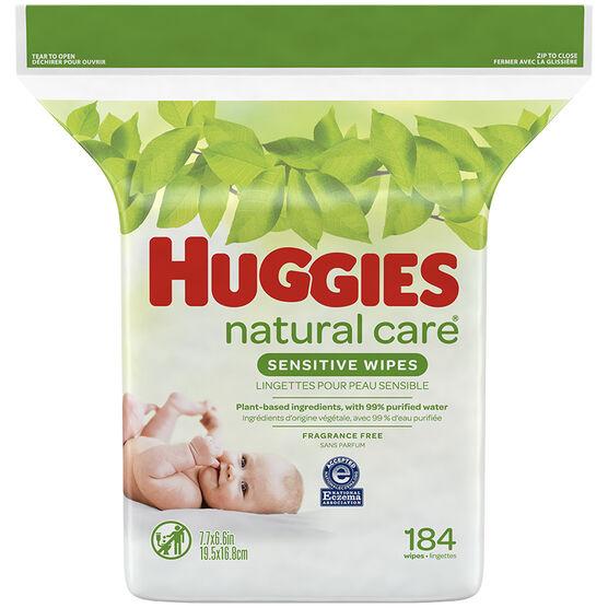Huggies Natural Care Wipes - Refills - 184's