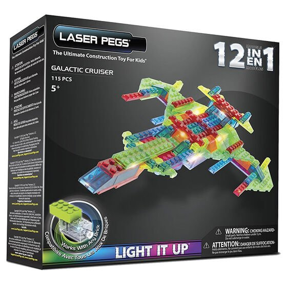 Laser Pegs 12-in-1 Galactic Cruiser Building Kit