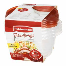 Rubbermaid TakeAlongs Round Containers - Clear - 4 x 760ml