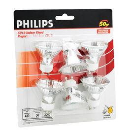 Philips 50W GU10 Halogen Indoor Flood Light Bulbs - 6 pack - 213462