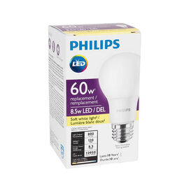 Philips A19 LED Light Bulb - Soft White - 8.5w/60w