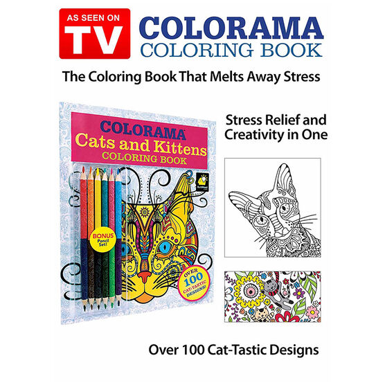 Colorama Adult Colouring Book - Cats and Kittens