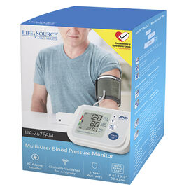 LifeSource Multi-User Blood Pressure Monitor - UA767FAM