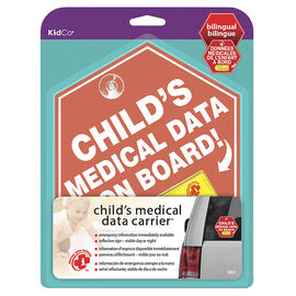 KidCo Child's Medical Data Carrier - Red - S805