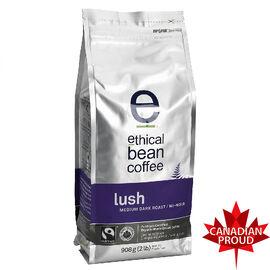 Ethical Bean Coffee - Lush Medium Dark Roast - Whole Bean - 908g