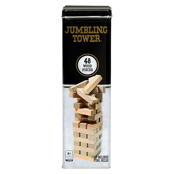 Jumbling Wood Tower in Tin - 48 pieces