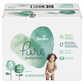 Pampers Pure Diapers - Size 5 - 44's