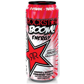 Rockstar Boom Energy Drink - Whipped Strawberry - 473ml