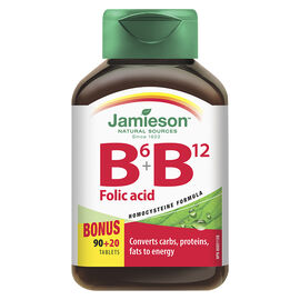 Jamieson Vitamin B6 + B12 and Folic Acid - 90's