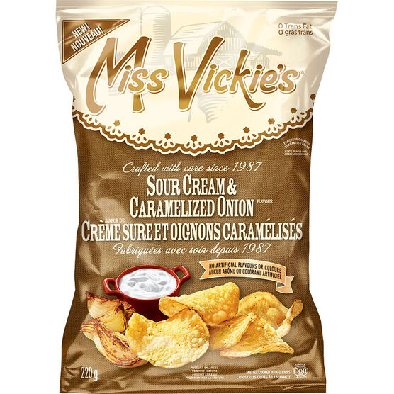 Miss Vickie's Potato Chips - Sour Cream & Caramelized Onion - 220g